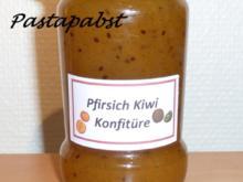 Pfirsich-Kiwi-Konfitüre - Rezept