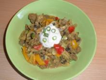 Hackfleischpfanne (scharf) - Rezept