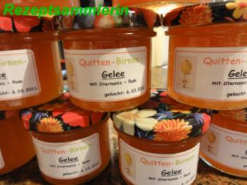 M+G:   QUITTEN - BIRNEN - GELEE - Rezept