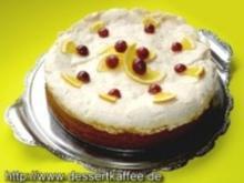 Kirsch-Orangen-Kuchen mit Baiserhaube - Rezept