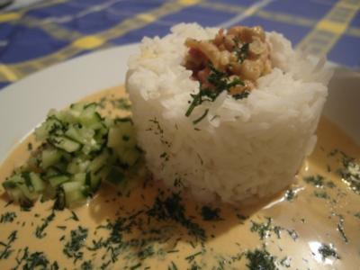 Krabben im Reisturm - Rezept
