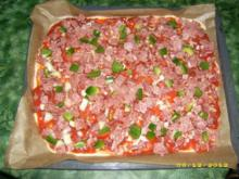 Salami-Schinken-Pizza - Rezept