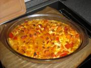 Paprika-Kürbis Gratin mit Fetakäse - Rezept