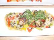 Resotto vom Gemüse mit Hühner Filets, Saltim Bocka - Rezept