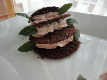 Schokolade Taler mit Zwetschgen Sahne - Rezept