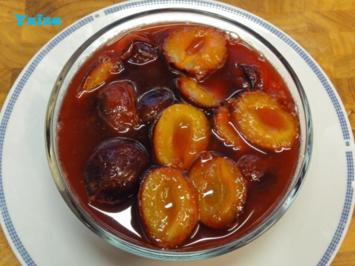 Zwetschken in Zitronensirup - Rezept