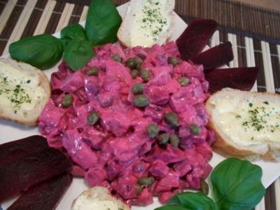 Roter Heringssalat mit Rote Beete und Kapern..... - Rezept