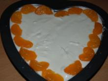Mandarinenjoghurt-Herz - Rezept