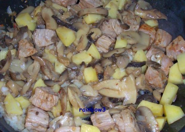 Kochen: Pilz-Fleisch-Pfanne - Rezept - Bild Nr. 3