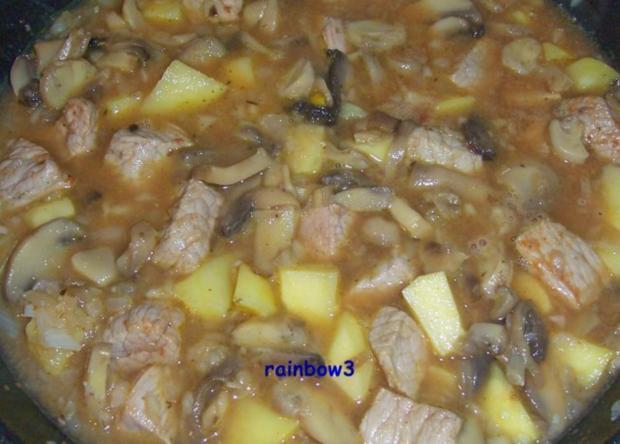 Kochen: Pilz-Fleisch-Pfanne - Rezept - Bild Nr. 4