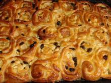 Apfel-Rosinen-Schneckenkuchen - Rezept