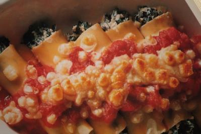 Canneloni mit Mangold-Käsefüllung - Rezept