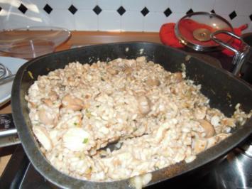 Rezept: Pilz-Risotto mit Huhn
