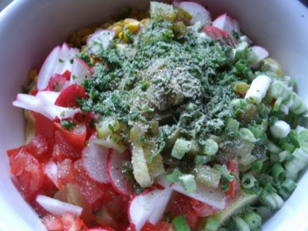 Bunter Kartoffelsalat mit Kieler Knackern - Rezept - Bild Nr. 3