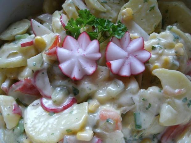 Bunter Kartoffelsalat mit Kieler Knackern - Rezept - Bild Nr. 4