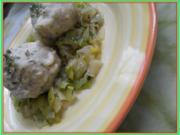 Allgäuer Käseknödel auf Lauchgemüse - Rezept