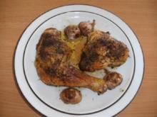 Fleisch: Hähnchen-Teile mit Knoblauchduft - Rezept