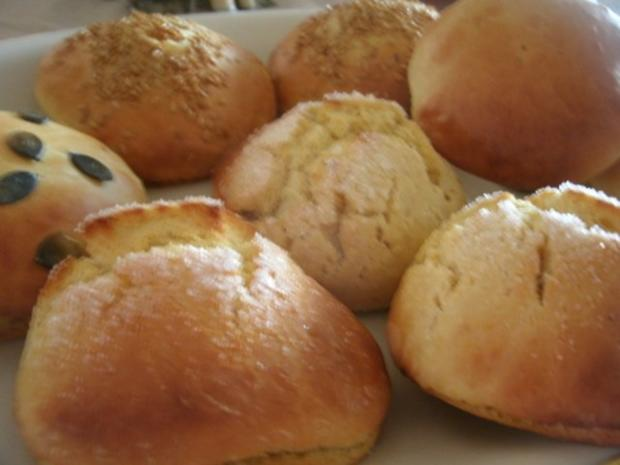 Süße weiche Kürbisbrötchen - Rezept