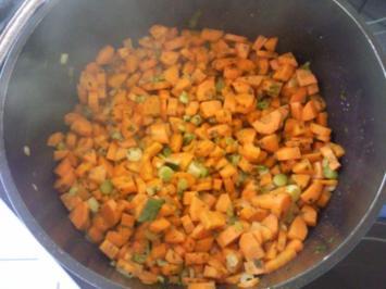 Rezept: Karotten-Kartoffelgemüse mit Vleischbällchen