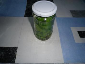 Maggikraut eingelegt - Rezept