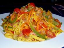 Bunte Nudel-Gemüse-Pfanne - Rezept