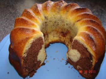 Kuchen & Torten : Nuss-Nougat-Marmorkuchen - Rezept