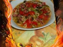 Eintopf : Gemüse mit Nudeln und Kasseler - Rezept