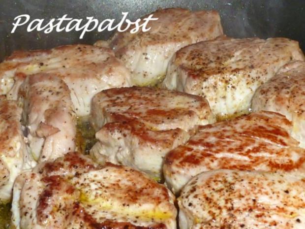 Filet mit Fächerkartoffeln und Balsamico-Möhren-Spaghetti - Rezept - Bild Nr. 5