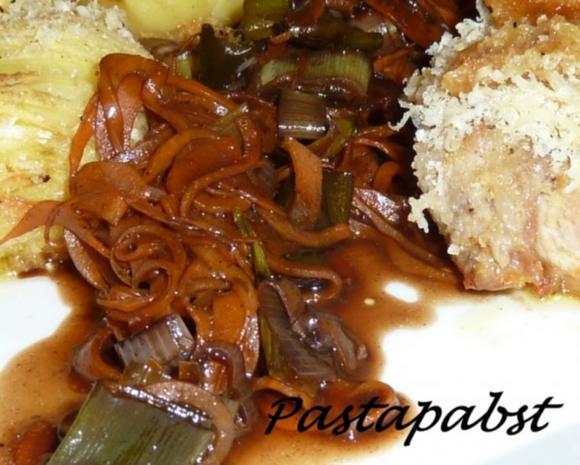 Filet mit Fächerkartoffeln und Balsamico-Möhren-Spaghetti - Rezept - Bild Nr. 8