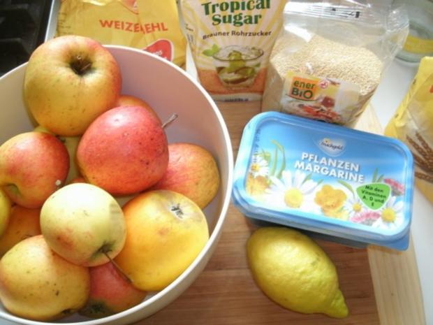 Gedeckter Apfelkuchen mit Amaranth - Rezept - Bild Nr. 2