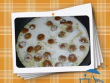 Pfannkuchen mit Bratwurst - Rezept