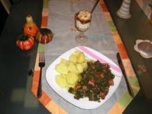 Grünkohl mit Mettwürstchen und Kartoffeln - Rezept