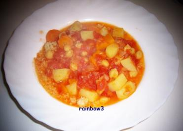 Kochen: Scharfes Gemüse auf Couscous - Rezept
