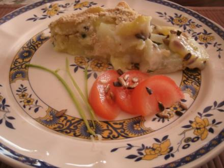 Kohlrabi- Kartoffelauflauf mit Sonnenblumenkernen - Rezept