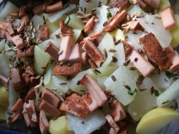 Kohlrabi-Kartoffelauflauf mit Leberkäse - Rezept - Bild Nr. 3