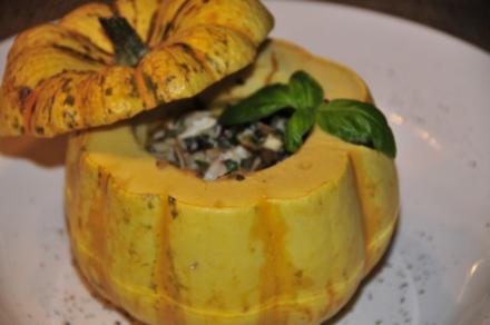 Gorgonzola-Kürbis, gefüllt - Rezept