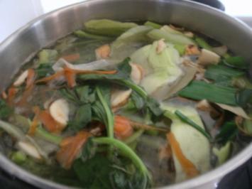 Reduktion von Gemüsebrühe- Gemüsefond - Rezept