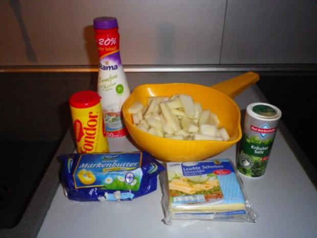 Käse - Rahm - Kohlrabi mit Schnitzel - Rezept - Bild Nr. 4