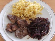 Fleisch: Lammherz-Steak mit Balsamicozwiebeln - Rezept