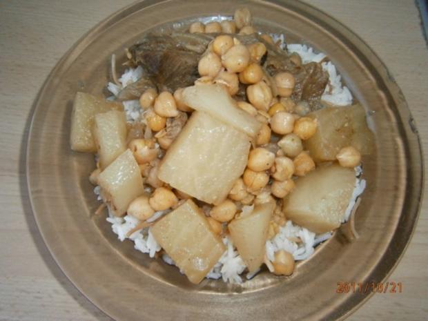 Kichererbsen Eintopf mit Futterrüben und Rindfleisch - Rezept - Bild Nr. 4