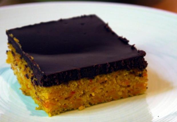 Kürbiskuchen mit Schokoladen-Guss - Rezept