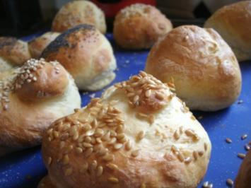 Quarkbrötchen zum Sonntagmorgen -Frühstück - Rezept