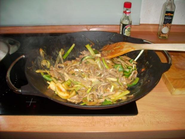 Scharfes Rindfleisch mit Zwiebeln - Rezept - Bild Nr. 9