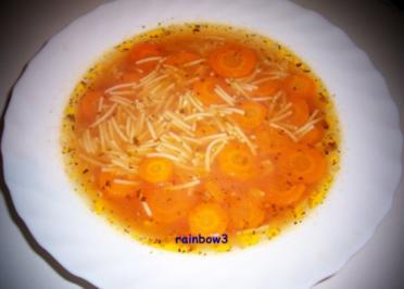 Kochen: Möhren-Nudel-Suppe - Rezept