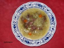 Rindfleisch/Zwiebel-Suppe - Rezept