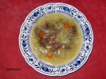 Rezept: Rindfleisch/Zwiebel-Suppe
