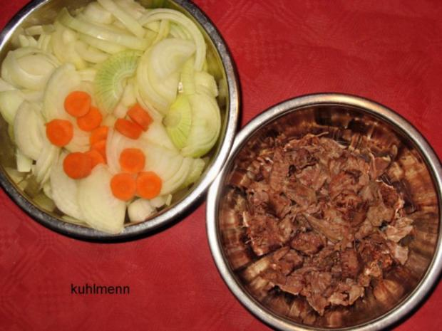 Rindfleisch/Zwiebel-Suppe - Rezept - Bild Nr. 6