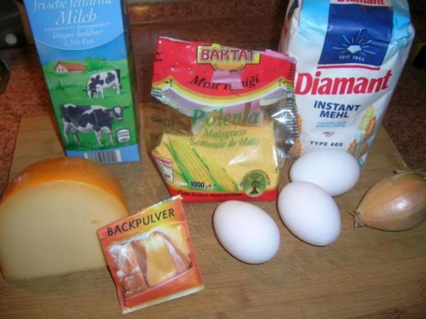 Maisküchlein, rein vegetarisch oder als Beilage zu meiner Spanfekelkeule - Rezept - Bild Nr. 5