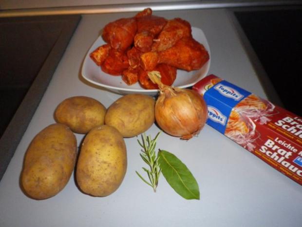 Hähnchen - Unterschenkel aus dem Folienschlauch - Rezept - Bild Nr. 3