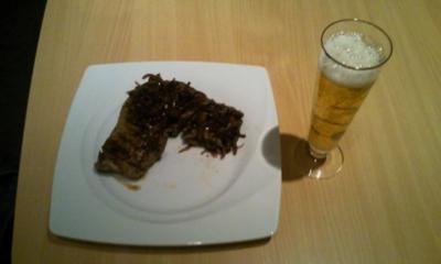 Ochs aus der Pfanne spicy garniert (mein Mann-ist das-geil-Steak) - Rezept